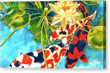 Koi Fish #104 Canvas Print by Donald k Hall