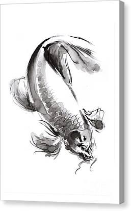 Koi Fish Canvas Print by Mariusz Szmerdt