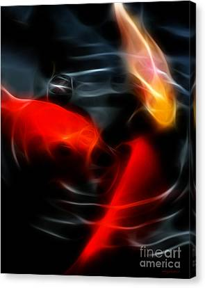 Koi Fish Canvas Print by Wingsdomain Art and Photography