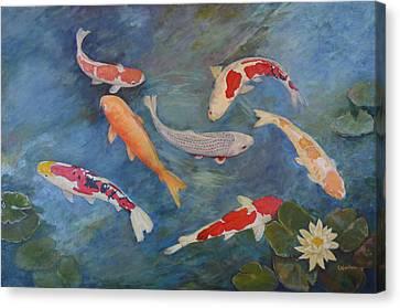 Koi Iv Canvas Print by Sandra Nardone