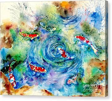Koi Joy Canvas Print by Cynthia Pride