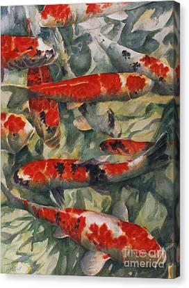 Koi Karp Canvas Print by Gareth Lloyd Ball