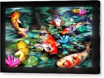 Koi Paradise Canvas Print by Susan Kinney