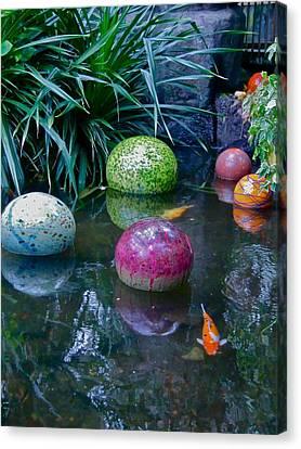 Koi Pond Fantasy Canvas Print by Richard Mansfield