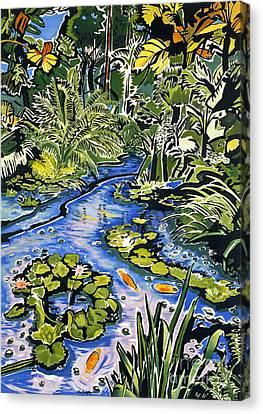 Koi Pond Canvas Print by Fay Biegun - Printscapes