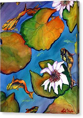 Canvas Print featuring the painting Koi Pond II Sold by Lil Taylor