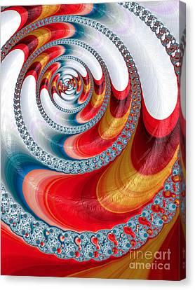 Koi Spiral Canvas Print