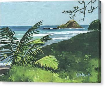 Koki Beach And Alau Island Hana Canvas Print