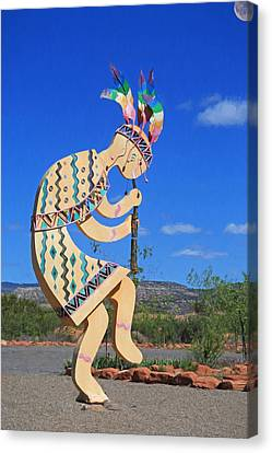 Kokopelli Canvas Print by Donna Kennedy