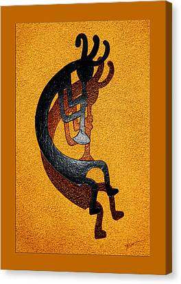 Kokopelli Golden Harvest Canvas Print by Vicki Pelham
