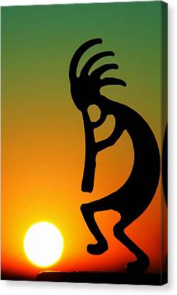 Kokopelli Canvas Print by Mitch Cat
