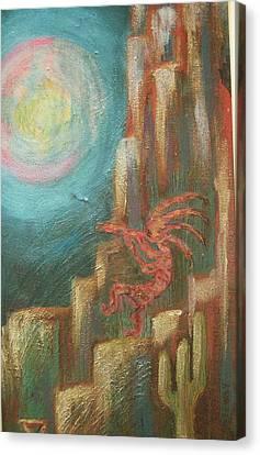 Kokopelli Night Watch Canvas Print