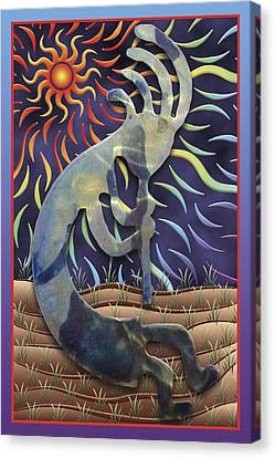 Kokopelli Spring Canvas Print by Becky Titus