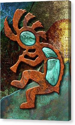 Hopi Canvas Print - Kokopelli Sunset by WB Johnston