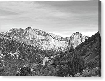Black Canvas Print - Kolob Canyon, Zion National Park No. 10-1 by Sandy Taylor