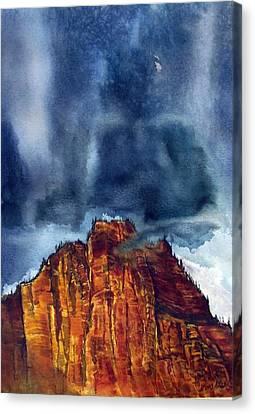 Kolob Thunderstorm Canvas Print by Russell Cornelius