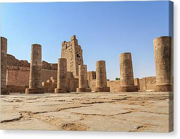 Canvas Print featuring the photograph Kom Ombo by Silvia Bruno