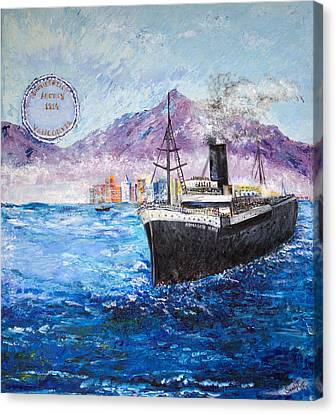 Sikh Art Canvas Print - Komagata Maru In Troubled Waters by Sarabjit Singh