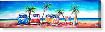Kombi Club Canvas Print