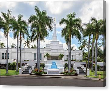 Kona Hawaii Temple-day Canvas Print