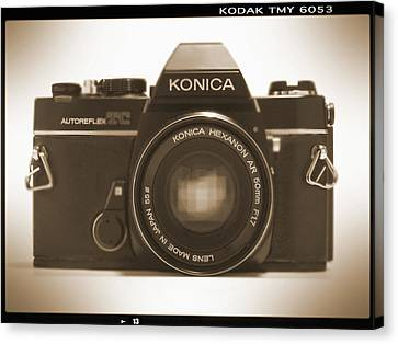 Konica Tc 35mm Camera Canvas Print