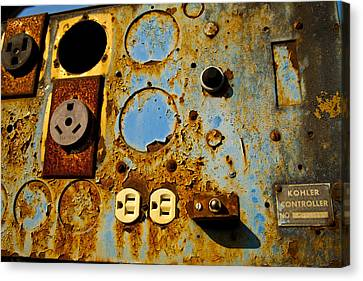 Kontroller Rust And Metal Series Canvas Print by Mark Weaver