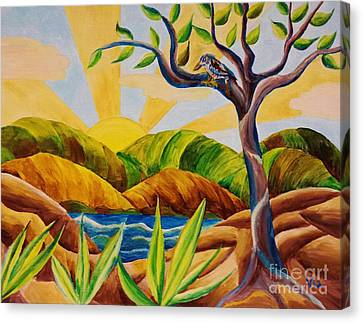 Kookaburra Landscape Canvas Print by Judy Via-Wolff