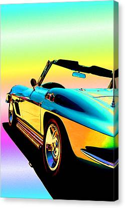 Kool Corvette Canvas Print by Lynn Andrews