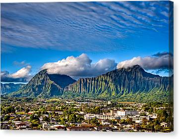 Canvas Print featuring the photograph Koolau And Pali Lookout From Kanohe by Dan McManus