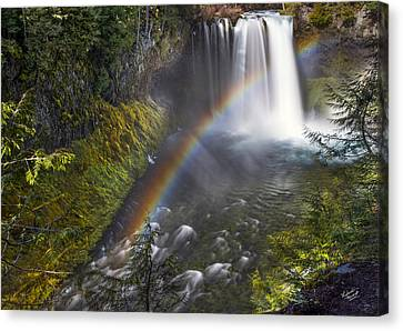 Koosah Falls Rainbow Canvas Print