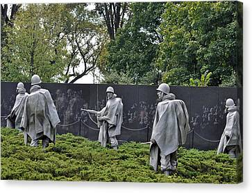 Korean War Memorial 4 Canvas Print by Teresa Blanton
