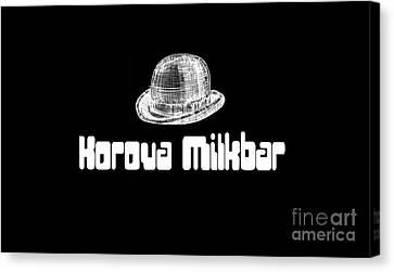Kubrick Canvas Print - Korova Milkbar A Clockwork Orange Tee by Edward Fielding