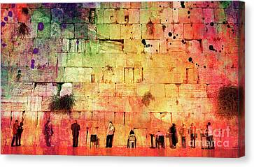 Kotel Canvas Print by Mark Ashkenazi