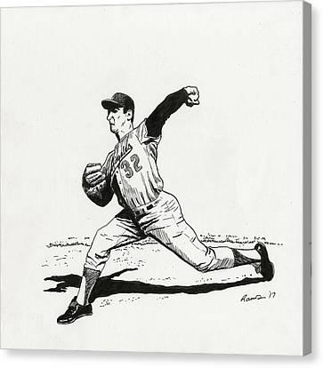 Bunting Canvas Print - Koufax by Timothy Ramos
