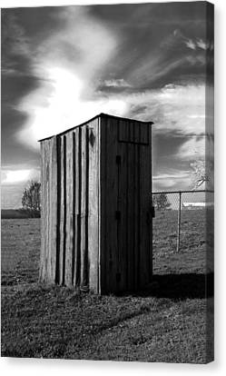 Koyl Cemetery Outhouse Canvas Print by Curtis J Neeley Jr