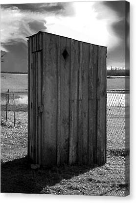 Canvas Print featuring the photograph Koyl Cemetery Outhouse5 by Curtis J Neeley Jr