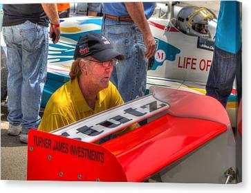 Kraig Johnson Driver Mechanic Raconteur Canvas Print