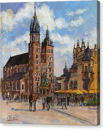 Krakow - Mariacki Church Canvas Print by Irek Szelag