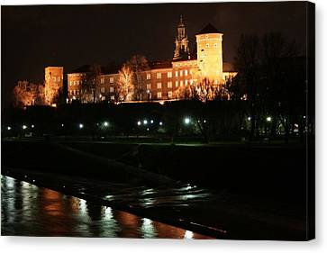 Krakow At Night Canvas Print