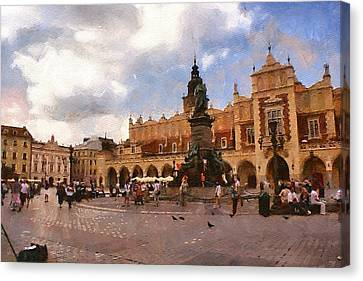 Krakow Main Market Canvas Print by Boguslaw Florjan