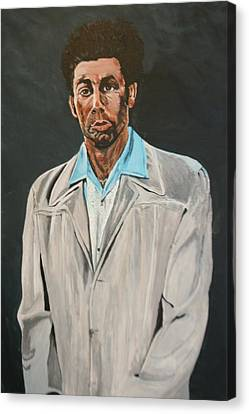 Kramer After Unknown Artist Canvas Print by Betty-Anne McDonald
