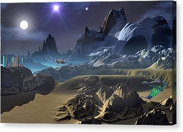 Krill City Stardock. Canvas Print by David Jackson