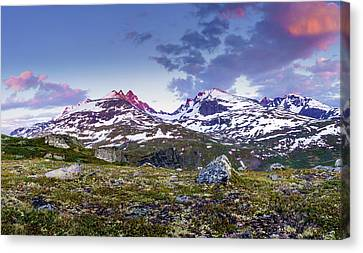 Canvas Print featuring the photograph Crimson Peaks by Dmytro Korol