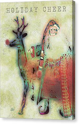 Kris And Rudolph Canvas Print
