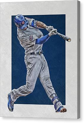 Kris Bryant Chicago Cubs Art 4 Canvas Print by Joe Hamilton