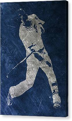 Kris Bryant Chicago Cubs Art Canvas Print by Joe Hamilton