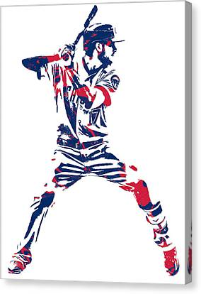 Kris Bryant Chicago Cubs Pixel Art 10 Canvas Print