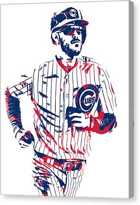 Kris Bryant Chicago Cubs Pixel Art 11 Canvas Print