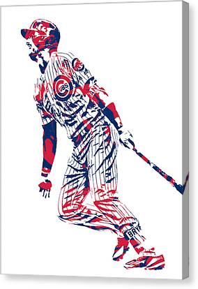 Kris Bryant Chicago Cubs Pixel Art 12 Canvas Print