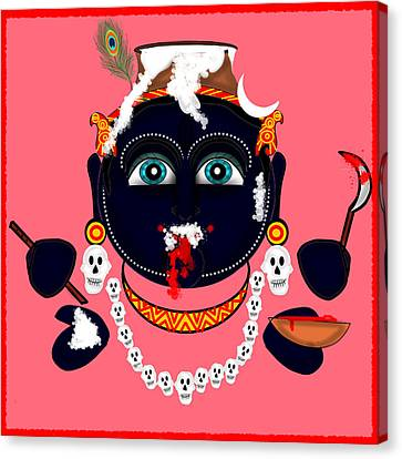 Krishna Kali Canvas Print by Pratyasha Nithin